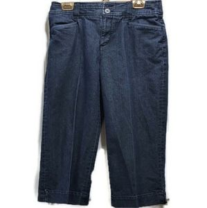 Intro stretch 8 womens jean capris * as is
